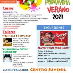 Programación de Juventud Primavera Verano 2021