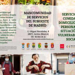 Servicio de comida a domicilio para personas en situación de vulnerabilidad social.