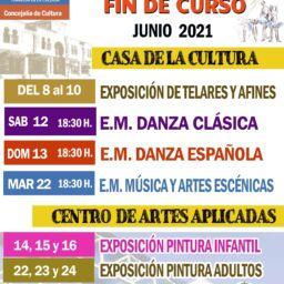 Festivales fin de curso de las actividades y escuelas municipales de cultura y deporte.